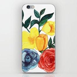Watercolor Flower Bouquet iPhone Skin