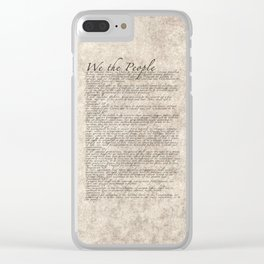 United States Bill of Rights (US Constitution) Clear iPhone Case