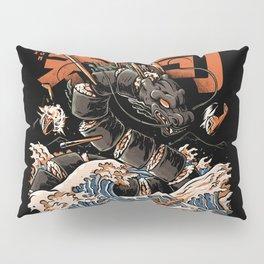 The Black Sushi Dragon Pillow Sham