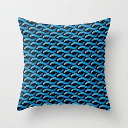 Aqua Waves Throw Pillow