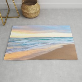 Monterey Beach Sunset Rug