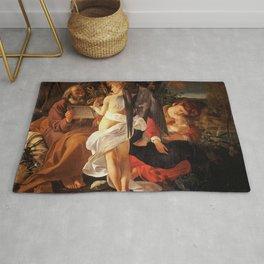 Merisi da Caravaggio - Ruhe auf der Flucht nach Ägypten Rug