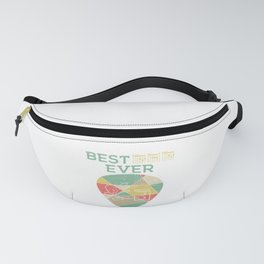 Retro Best Chords Ever With A Minimal Illustration Of A Guitar T-shirt Design White Musician Fanny Pack
