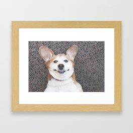 Goofy Dog Framed Art Print