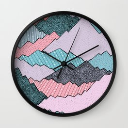 Mountain Tones Wall Clock