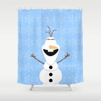 olaf Shower Curtains featuring Olaf by Aya Ghoneim
