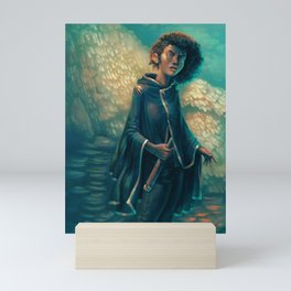 The Girl in Black Mini Art Print