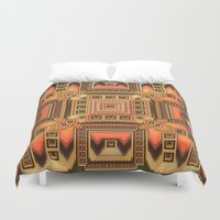 blanket Duvet Covers featuring Cozy Blanket by Lyle Hatch