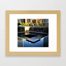 9/11 Memorial South Pool Framed Art Print