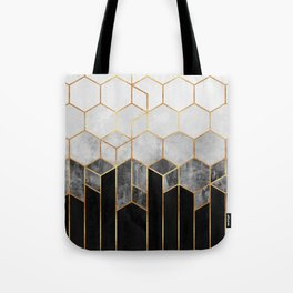 Charcoal Hexagons Umhängetasche