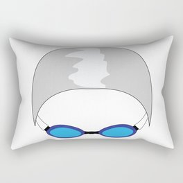 Swim Cap and Goggles Rectangular Pillow