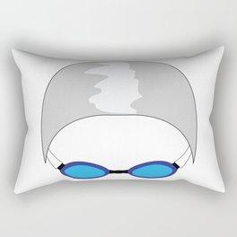 Swim Cap and Goggles Rectangular Pillow