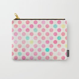 Colorful polka dots pattern Carry-All Pouch