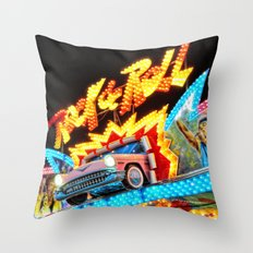 Rock & Roll on the midway! Throw Pillow