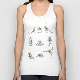 Skeleton Yoga Unisex Tank Top