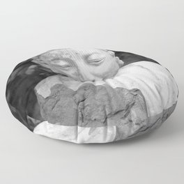 Buddha black and white photo, photographed village in Oberaudorf (Bavaria), 2013 Floor Pillow