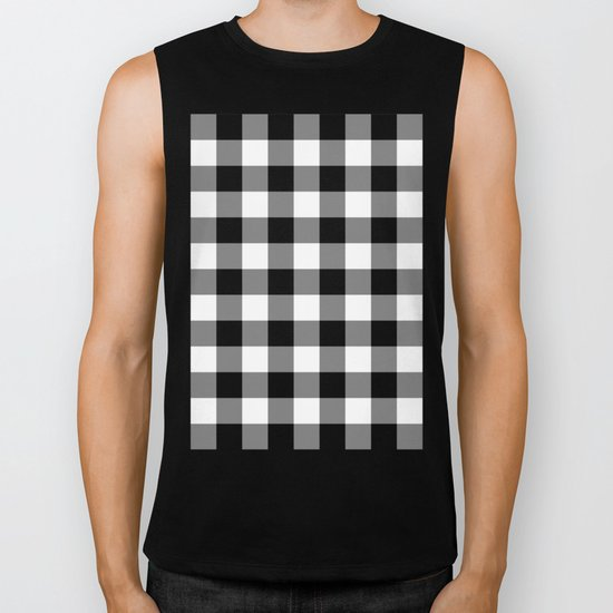 Gingham (Black/White) Biker Tank
