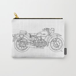 MOTO GUZZI AIRONE 250 1939 Original handmade drawing, gift for bikers Carry-All Pouch