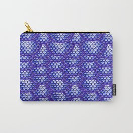 Violet Mermaid Scales Pattern Carry-All Pouch