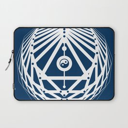 Radiant Abundance (blue-white) Laptop Sleeve