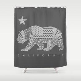 California grey Shower Curtain