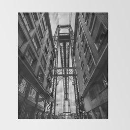 Portugalete suspension bridge Throw Blanket