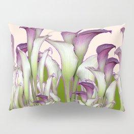 ART NOUVEAU  MAROON CALLA LILIES PURPLE DESIGN Pillow Sham