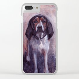 Jane the rescued hound dog Clear iPhone Case
