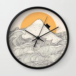 Good Morning Meow 1 Wall Clock