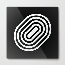 Stripey pill shape Metal Print