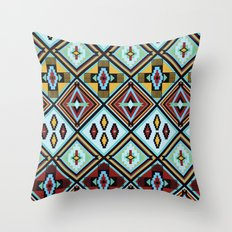 NATIVE AMERICAN PRINT Throw Pillow