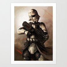 Desert Tank Trooper Art Print