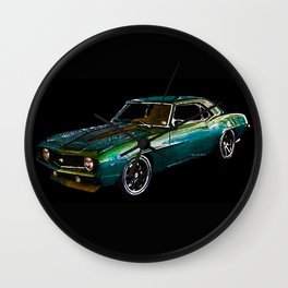 1969 Camaro By Annie Zeno Wall Clock