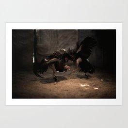 Cockfighting 7 Art Print