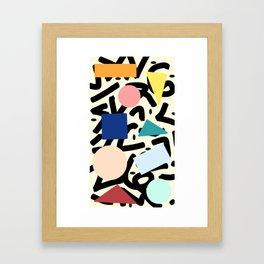 Burros de colores Framed Art Print