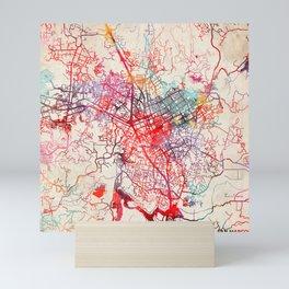 San Marcos map California CA Mini Art Print