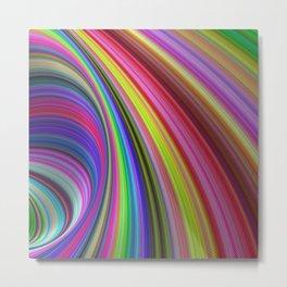 Rainbow vortex Metal Print