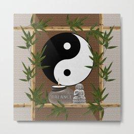 The Balance of Yin Yang Metal Print