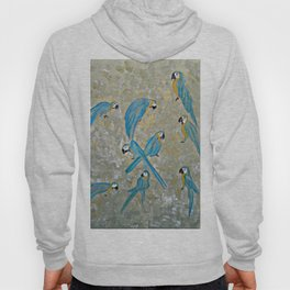 Gold And Blue Macaws Hoody