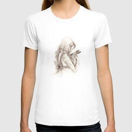 girl with rabbit T-shirt