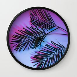 Seapunk Palm Leaves, Palm Leaf, Palm Tree Lover, 80s vibes Wall Clock