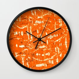 Tangerine Meanderin' Wall Clock