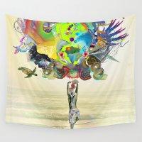 archan nair Wall Tapestries featuring Aurantiaca by Archan Nair
