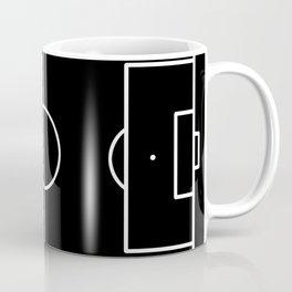 Soccer field / Football field in Black and White Coffee Mug