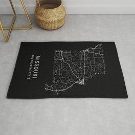 Missouri State Road Map Rug