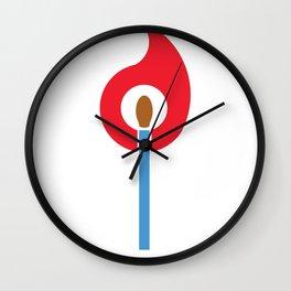 Keep the Flame Wall Clock