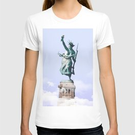 Statue of Liberty Leading the People - Julien Tabet - Photoshop Artwork T-shirt
