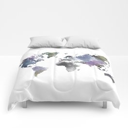 Watercolor World Comforters