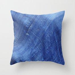 Blue Wave Throw Pillow