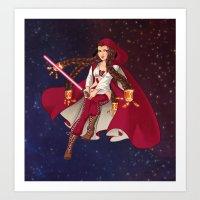 jedi Art Prints featuring Jedi Jade by Cola82